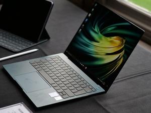 Huawei представила ноутбук с выдвижной камерой